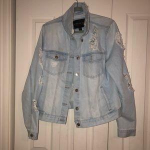 Size 1x Light Denim Jacket